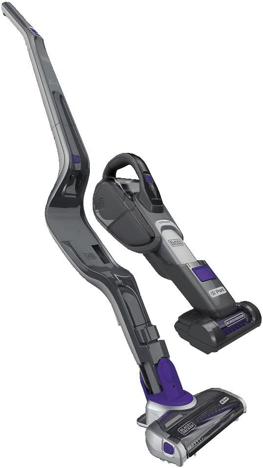 BLACK+DECKER Pet Cordless Stick Vacuum & Hand Vac with SMARTECH, 2-in-1, Gray (HSVJ520JMPA07)