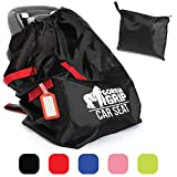Gorilla Grip Car Seat Bag with Pouch, Bonus Luggage Tag, Adjustable Padded Straps for Backpack, Gate Check, Universal Size Travel Bags Fit Most Carseats, Airport Flying with Baby, Airplane Easy Carry