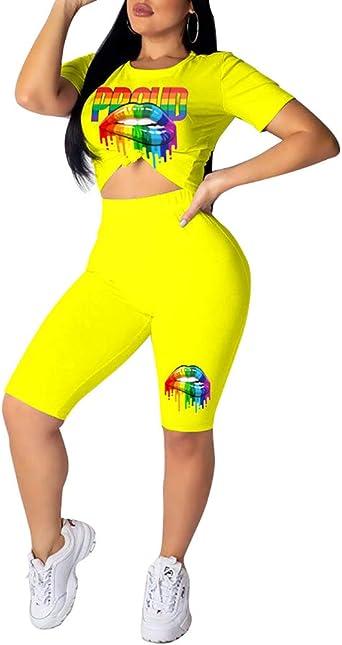 Amazon Com Halfword Conjunto De 2 Piezas De Pantalones Cortos De Licra Para Mujer M Clothing