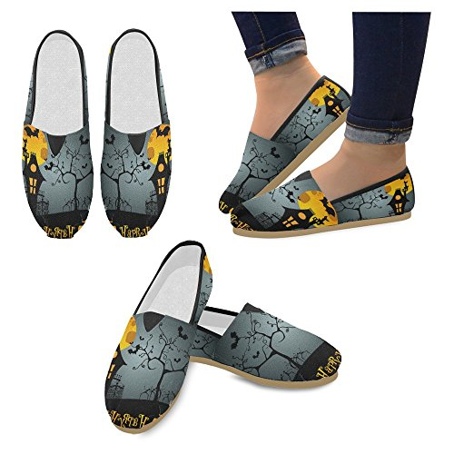InterestPrint Womens Loafers Classic Casual Canvas Slip On Fashion Shoes Sneakers Flats Multi 27 jTCp9pqHiE