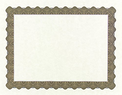 - Great Papers! Metallic Gold Border Certificate, 8.5