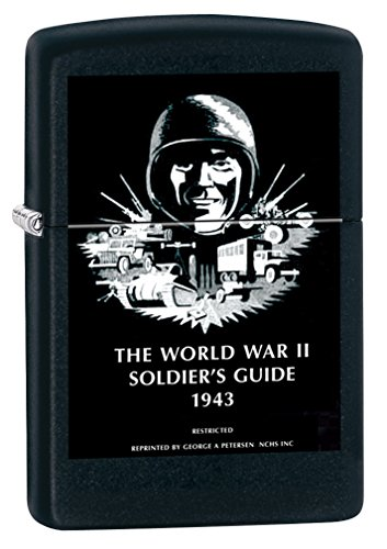 (Zippo US Army WW2 Soldier's Guide Black Matte Pocket Lighter)