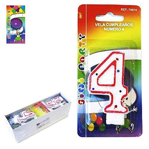 Sini Vela de Cumpleaños Número 4: Amazon.es: Hogar