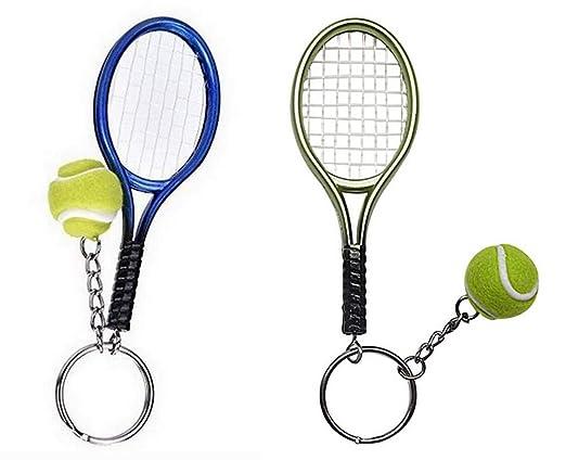 Genérico 2 llaveros Grandes, Joyas de Bolsa Raqueta de Tenis ...