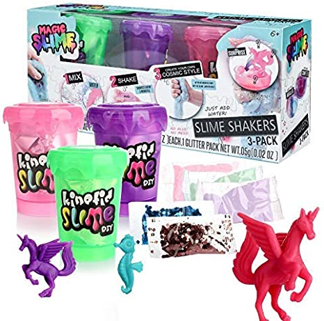 DmHirmg Shake Slime Shaker Kit DIY Making B(3 Pack): Amazon.es ...