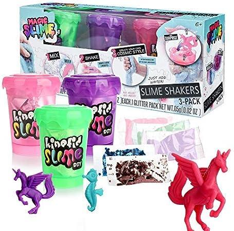 DmHirmg Shake Slime Shaker Kit DIY Making B(3 Pack): Amazon.es ...