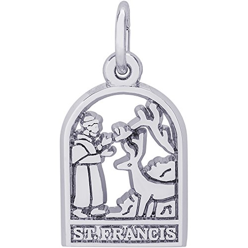 - Rembrandt Charms 14K White Gold St. Francis Charm (10.5 x 15 mm)