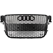 ZMAUTOPARTS 2008-2012 Audi A5 / S5 B8 8T RS5 Style Honeycomb Mesh Hex Grille Gloss Black