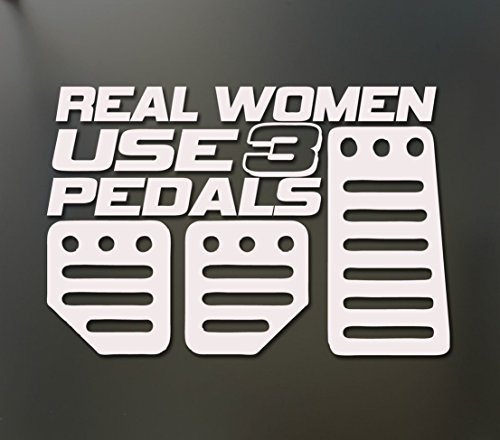 Dialer Module (1-Set Perfect Popular Real Women Use 3 Pedals Car Stickers Funny Decor Vinyl Decals Honda Racing Color White)