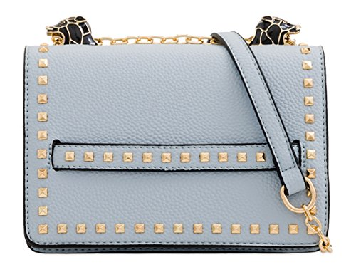 Handbags 2160 Women's Studded LeahWard Messenger Bags Cross Bag Body Blue Shoulder U1FwBq
