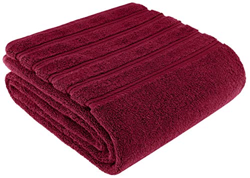 American Soft Linen Premium, Luxury Hotel & Spa Quality, 35×70 Extra Large Jumbo Size Bath Towel, Bath Sheet Cotton for Maximum Softness and Absorbency, [Worth $34.95] (Burgundy)