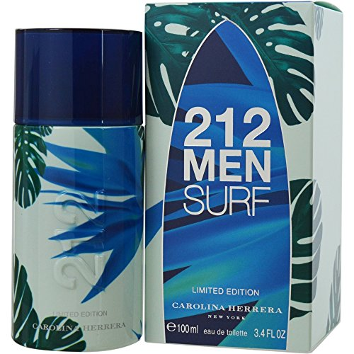 Price comparison product image Carolina Herrera 212 Surf Eau de Toilette Spray for Men, 3.4 Ounce