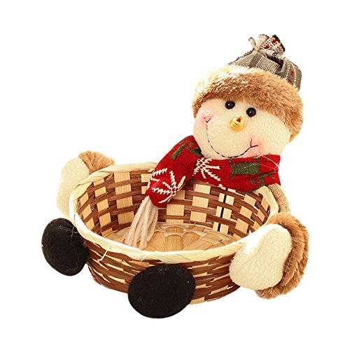 - Christmas Storage Basket,Charming Christmas Candy Storage Basket Decoration Santa Claus Storage Basket Gift (Multicolor -A)