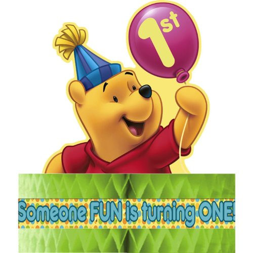 Winnie the Pooh Balloon 1st Birthday Centerpiece -