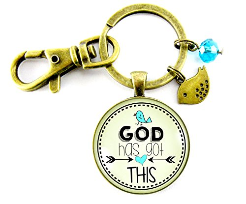 God Has Got This Keychain Key Ring Faith Bohemian Style 1.20