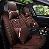 HOMEE@ Summer Car Cushion Four Seasons Universal Full Of Ice Silk Leather Cushions , Brown,brown