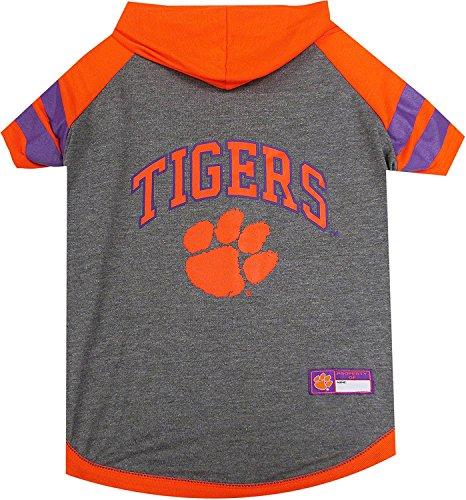 (Clemson Tigers NCAA Hoodie Dog Pet Tee T-Shirt (X-Small))