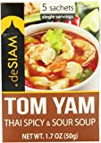 panang curry mix - deSIAM Soup, Thai Spicy & Sour (Tom Yam), 1.7 Ounce (Pack of 12)