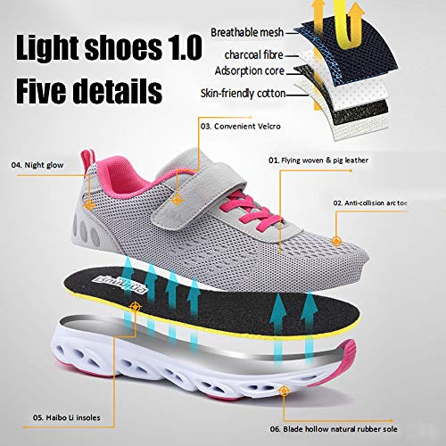 Sports Womens Grey 4 Jogging Shock Athletic Sneakers Monrinda Gym Mens Absorbing Running Shoes Size Breathable Trainers Lightweight 9 5 FxnR1B7