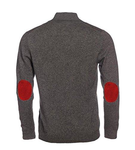 Cerniera Invernale Uomo Alto Rosse Cachmere Con Zip Collo Pullover Grigio Maglione Allbow T6Ex8qw5B