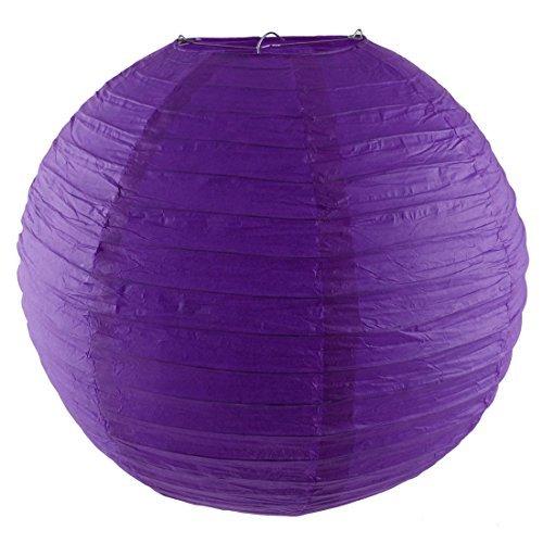 Forma DealMux Bola Partido da lmpada da lanterna Luzes Cordas Presente de Natal 16 polegadas roxo