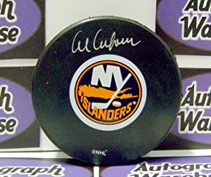Autograph Warehouse 12366 Al Arbour Autographed Hockey Puck New York Islanders