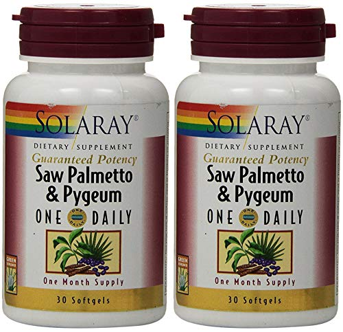 Saw Palmetto and Pygeum One Daily 30 Softgel (Pack of 2) Solaray