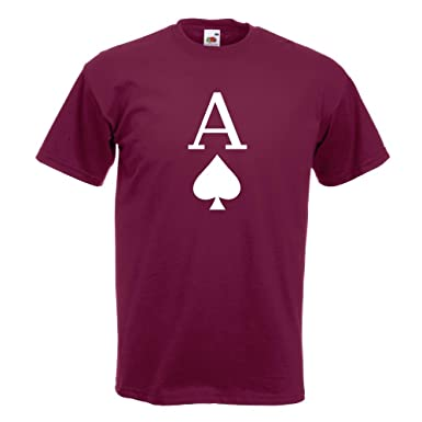 KIWISTAR - Pik Ass Spielkarte T-Shirt in 15 verschiedenen Farben - Herren  Funshirt bedruckt