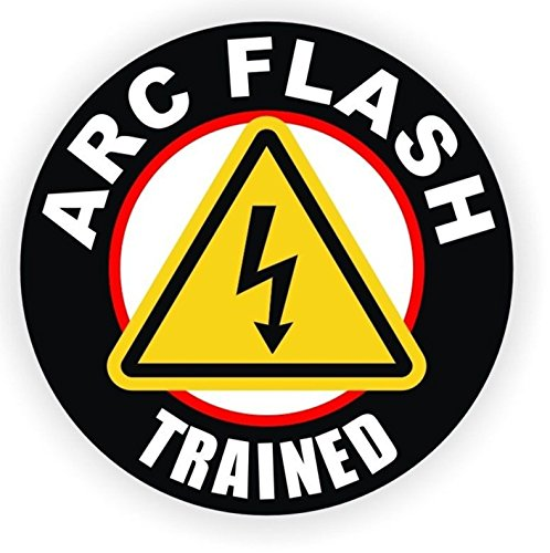1 Set Lavish Unique ARC Flash Trained Window Sticker Signs Laptop Luggage Hoverboard Wall Graphics Emergency Arc Badge Safety Helmet Decal Decor Vinyl Art Stickers Patches Size (Iron Patriot Helmet)