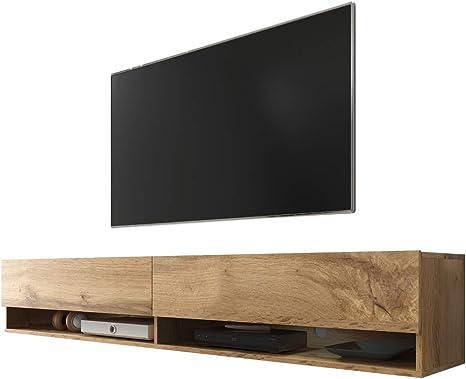 Selsey Wander - Mueble TV Suspendido/Mesa TV/Mueble para Salón (180 cm, sin LED, Roble Dorado): Amazon.es: Electrónica
