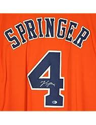 George Springer Houston Astros Signed Autographed Signed Orange #4 Custom Jersey