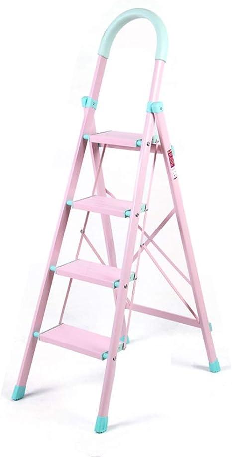 L&WB Desde El Hogar Espesante Color Aleación De Aluminio Rosa Cuatro Pasos Escala Azul Grandes Pedal Escaleras Móvilescaleras Escaleras Escalando Escaleras Cuatro Pasos Escala,Pink: Amazon.es: Deportes y aire libre