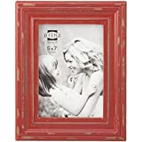 prinz carson wood frame 5 x 7 red