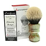 Shavemac 2 Band Silvertip Badger Shaving Brush RJ3