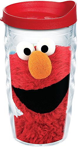 Tervis 1243114 Sesame Street - Elmo Insulated Tumbler with Wrap and Red Lid, 10 oz Wavy - Tritan, Clear