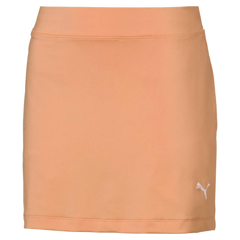 PUMA 2019 Solid Knit Skirt, Cantaloupe, Large by PUMA
