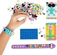 QLT QIAOLETONG Girls Building Blocks Set Toy,DIY Accessories Creative Strap Base Plates Bulk Sets,STEM Constru