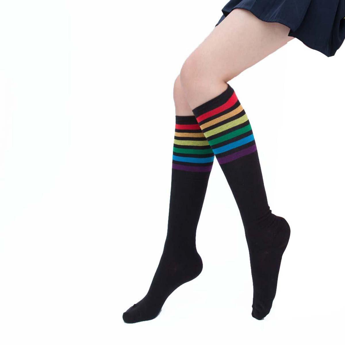 c25a78043 Amazon.com  Rainbow Socks