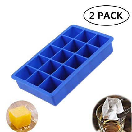 Ozera 2 Pack Silicone Ice Cube Tray Molds Candy Mold Cake Mold Chocolate Mold 1