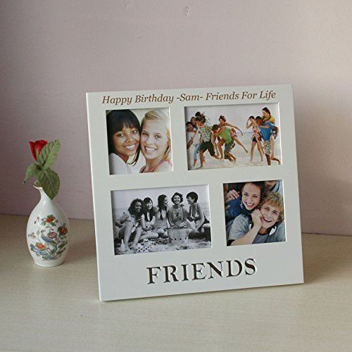 personalised friends photo frame collage style