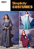 Simplicity Sewing Pattern 9891 Misses Costumes, HH (6-8-10-12)