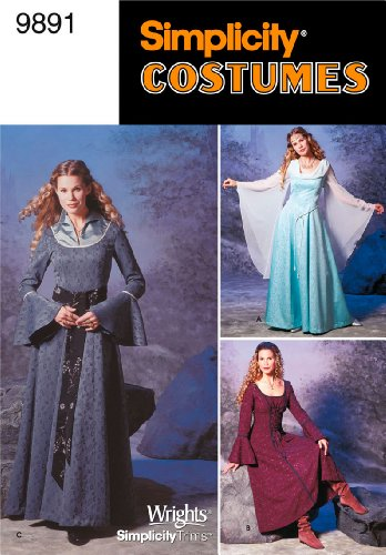 Simplicity Sewing Pattern 9891 Misses Costumes, HH (Court Maid Costumes)