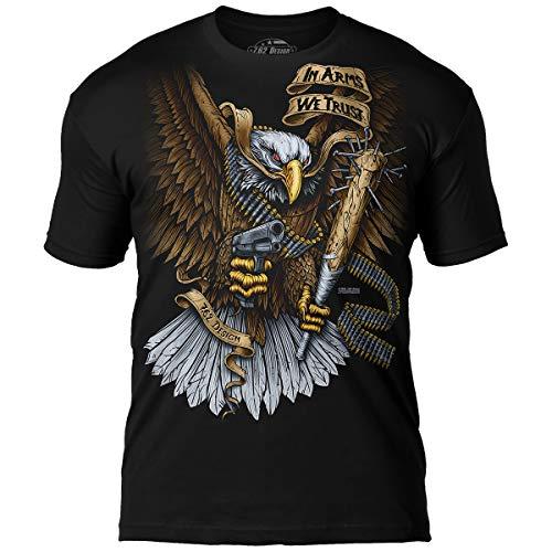 7.62 Design 'in Arms We Trust' Men's Jumbo Print T-Shirt LG Black