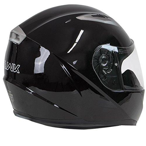 Hawk H-510 Glossy Black Bluetooth Full Face Helmet - Small by Hawk Helmets (Image #5)