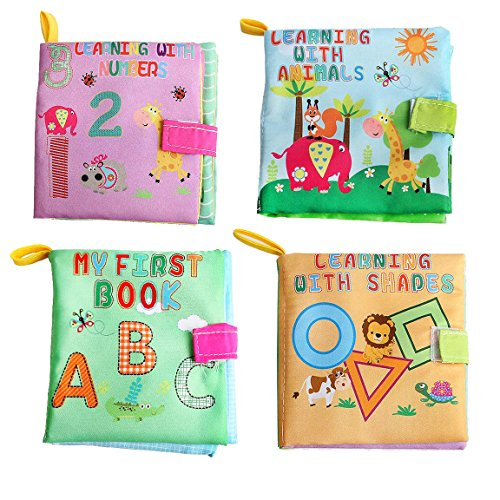 Cloth Baby Books - My First Soft Book - Early Learning & Development Toy For Babies - ABC, 123, Shapes & (Infant Newborn Activity Book)