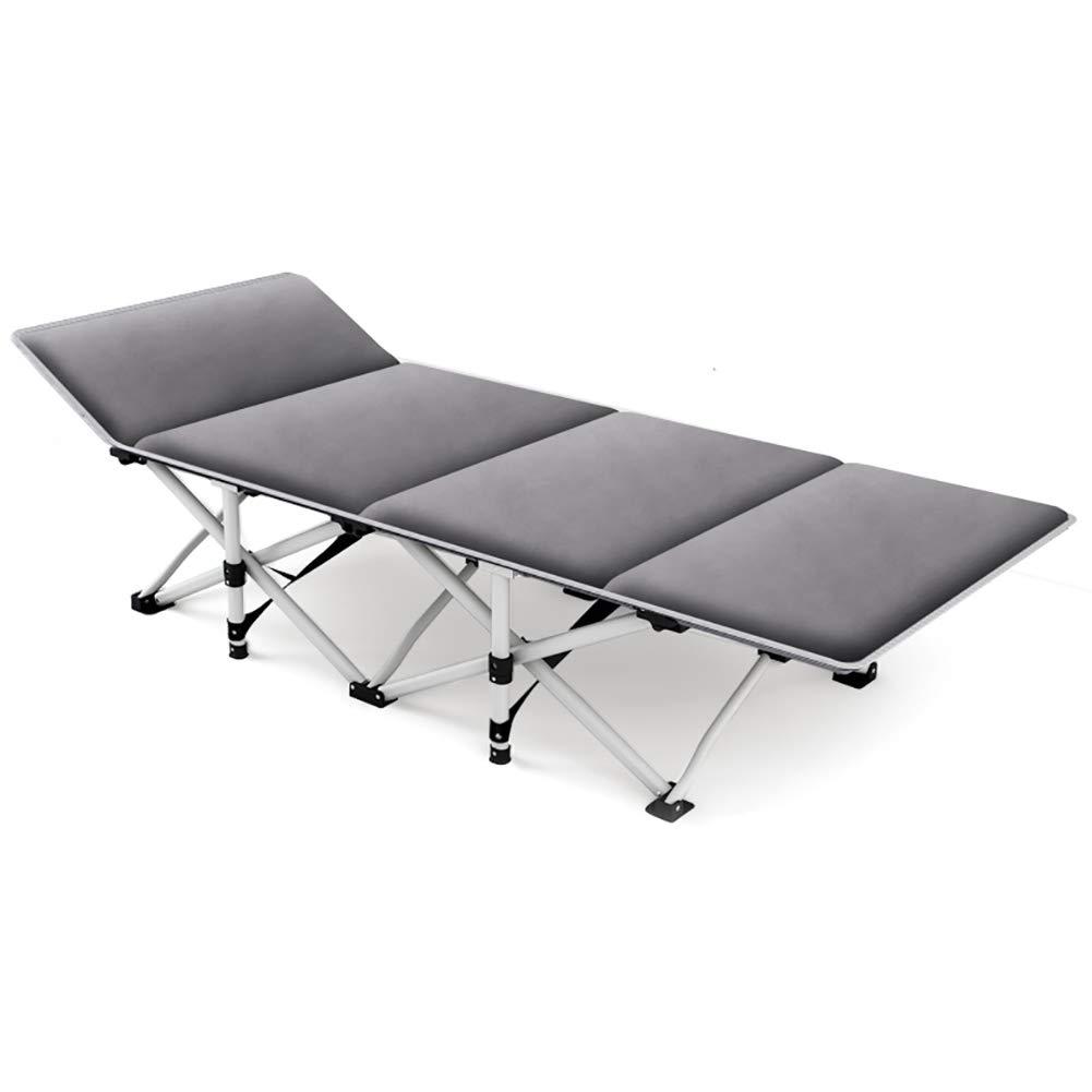 LE Chaises pliantes d'extérieur Lit Pliant Renforcer Portable lit Simple Bureau Pause déjeuner Chaise Longue Sieste Lit d'accompagnement Simple B W67H190cm