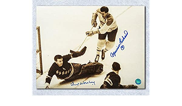 Maurice Richard   Gump Worsley Dual Signed Original Six Legends 11x14 Photo  - Autographed NHL Photos at Amazon s Sports Collectibles Store 2a2689a68