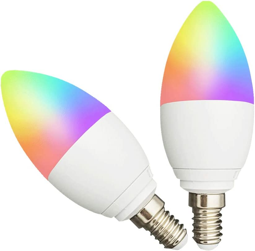 E14 LED Smart Candle Light Bulb WiFi App Control Amazon Alexa Google Home