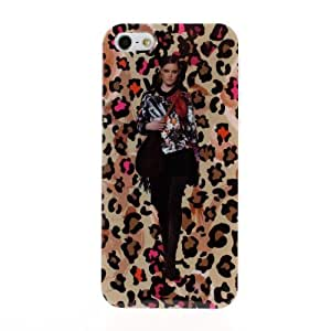 Diebell-- New Arrive Fashion cloth Model in Lepord Series Hard shell Soft For Iphone 6 4.7 Inch Case Cover (G)