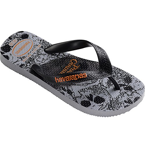 Caribbean Pirate Shoes - Havaianas Kids Flip Flop Sandals, Disney, Pirates of the Caribbean, Ice Grey,25/26 BR (10 M US Toddler)